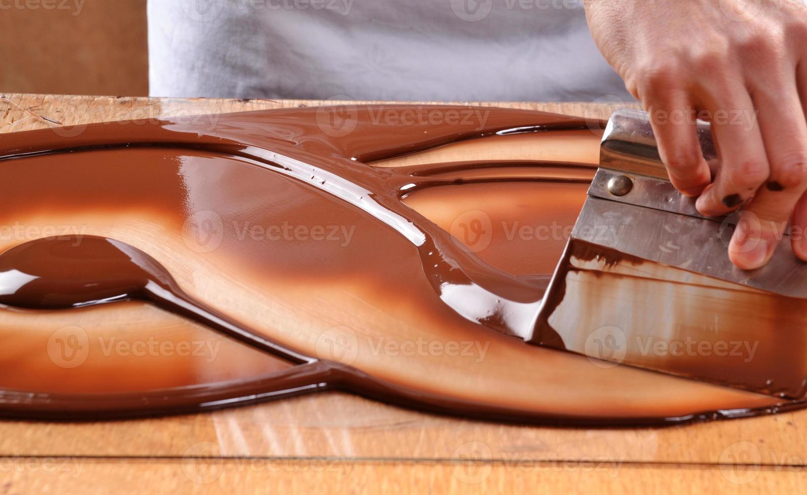 cottura del cioccolato. foto