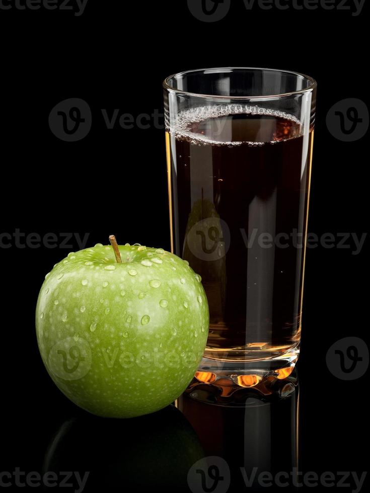 succo di mela e mela foto