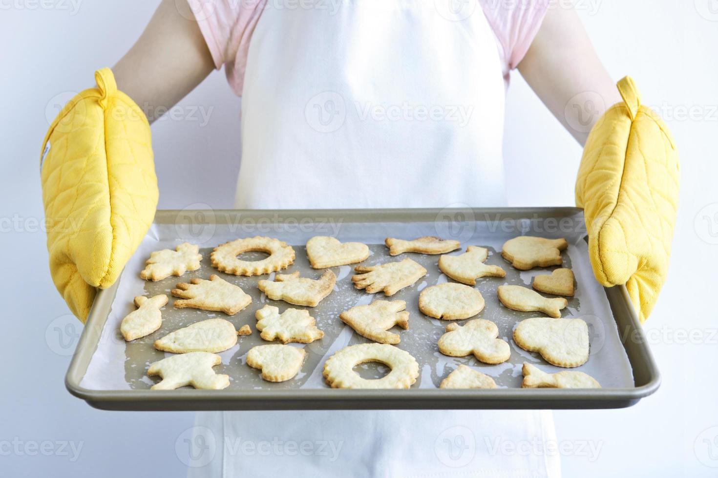 biscotti appena sfornati foto