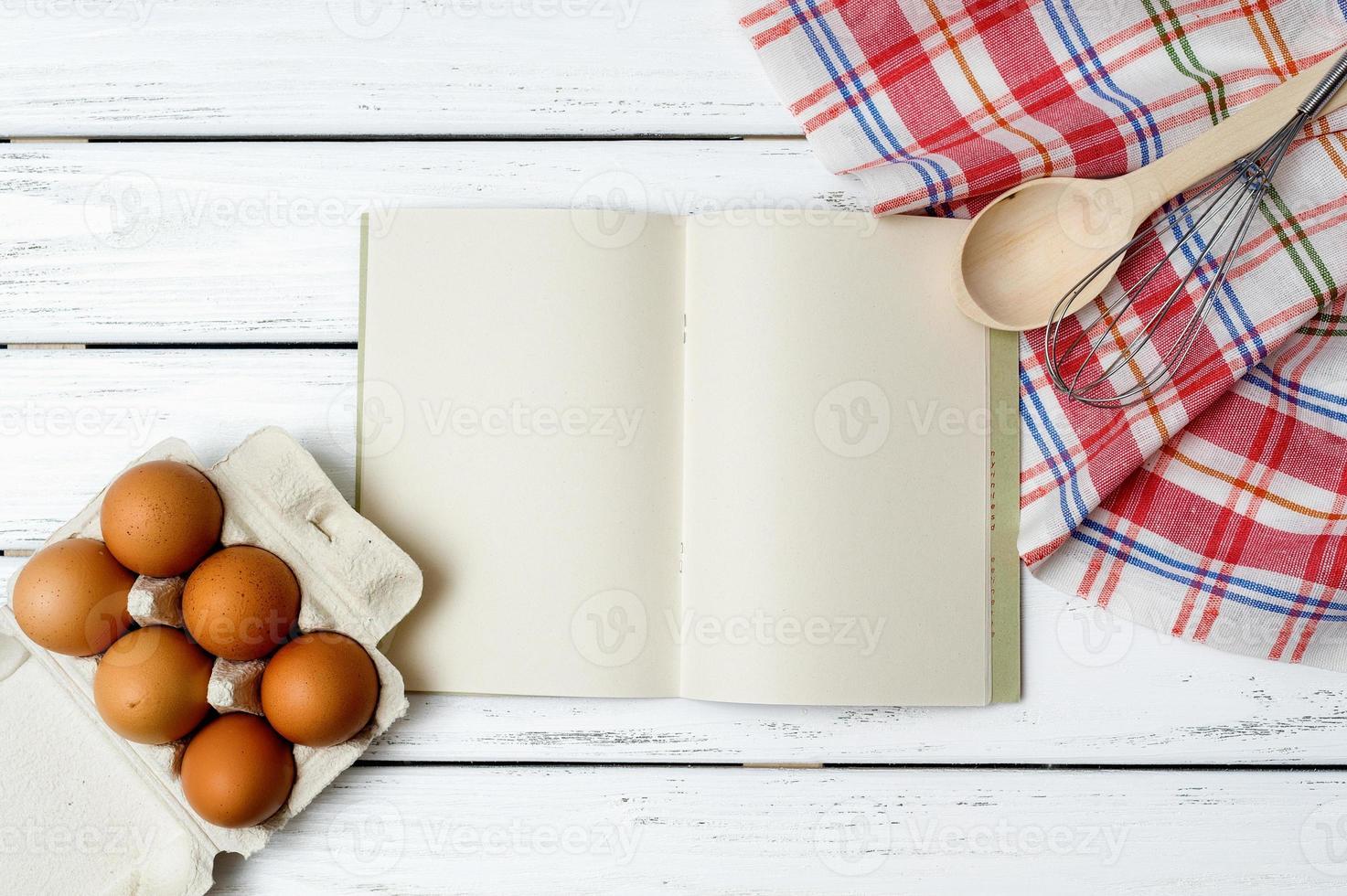 sfondo del libro di ricette foto