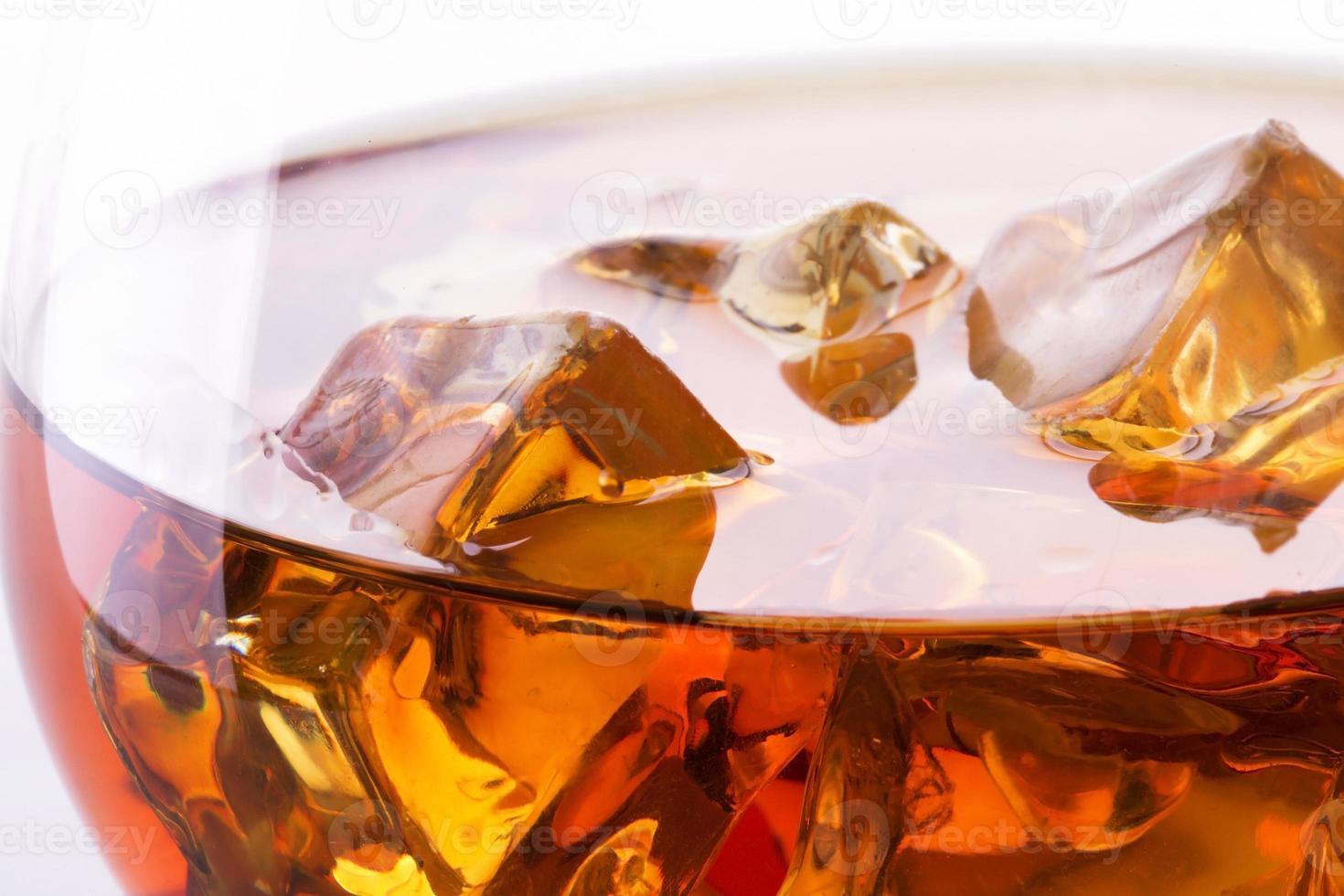 macro di cognac o brandy foto