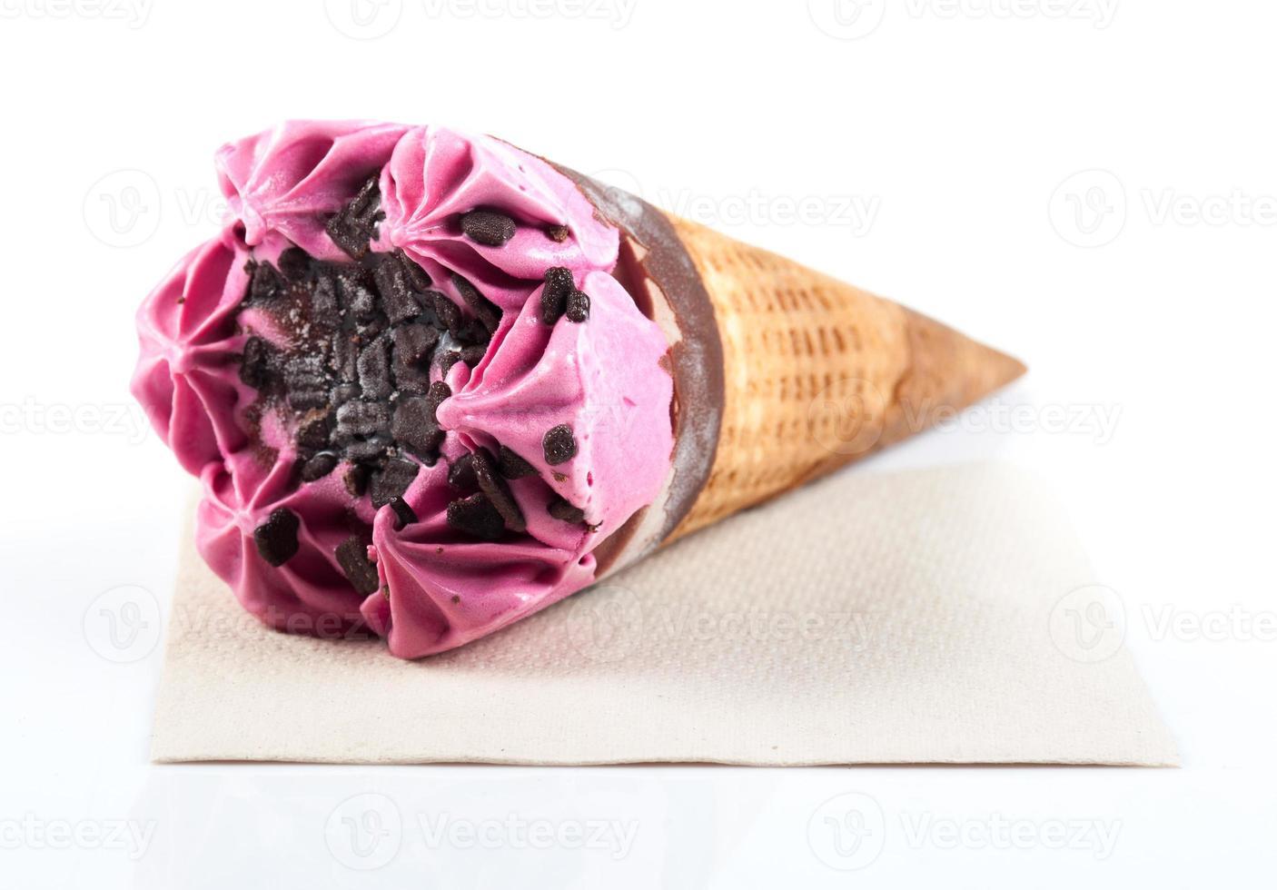 gelato alla fragola foto