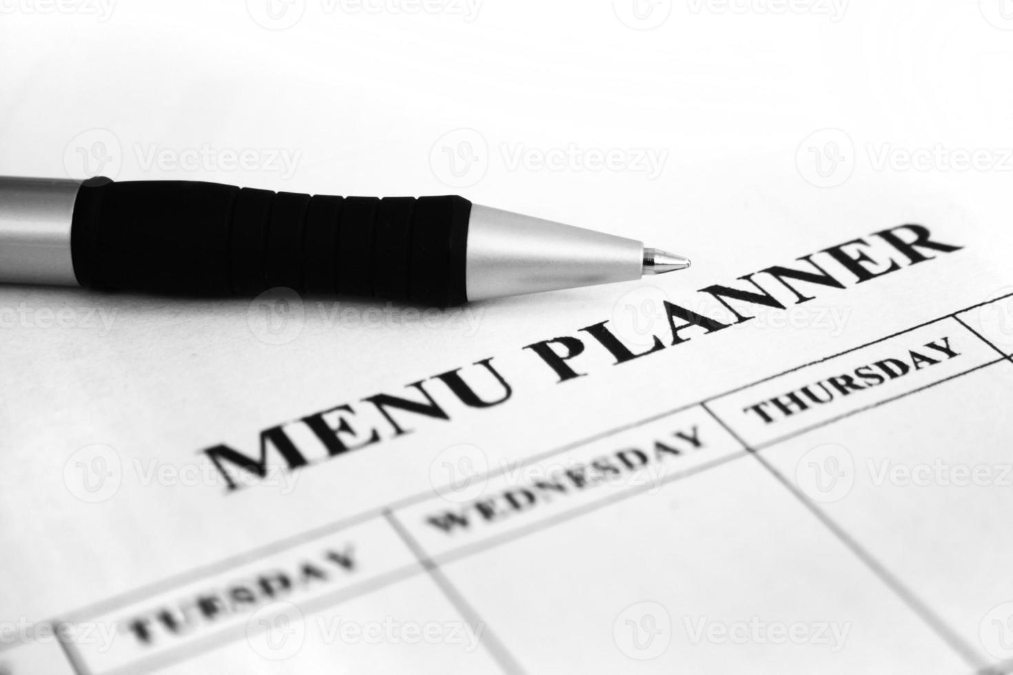 pianificatore di menu foto