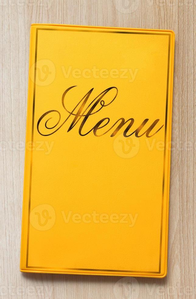 libro di menu foto