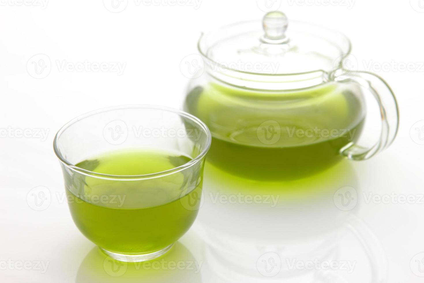 tè verde freddo jananese foto