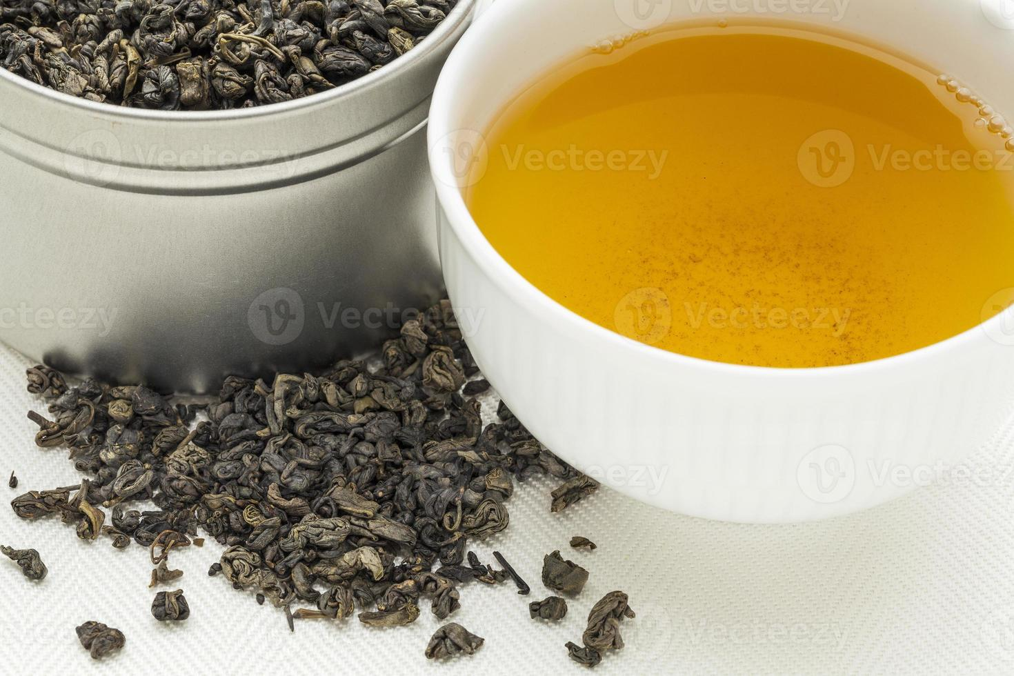 tè verde da polvere da sparo foto