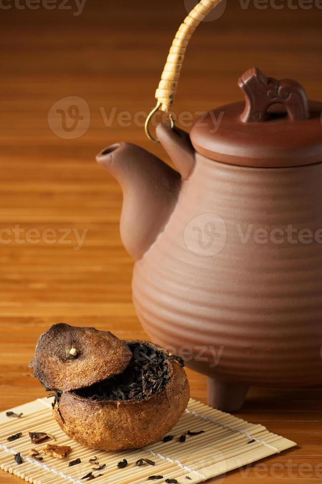 tè e teiera foto