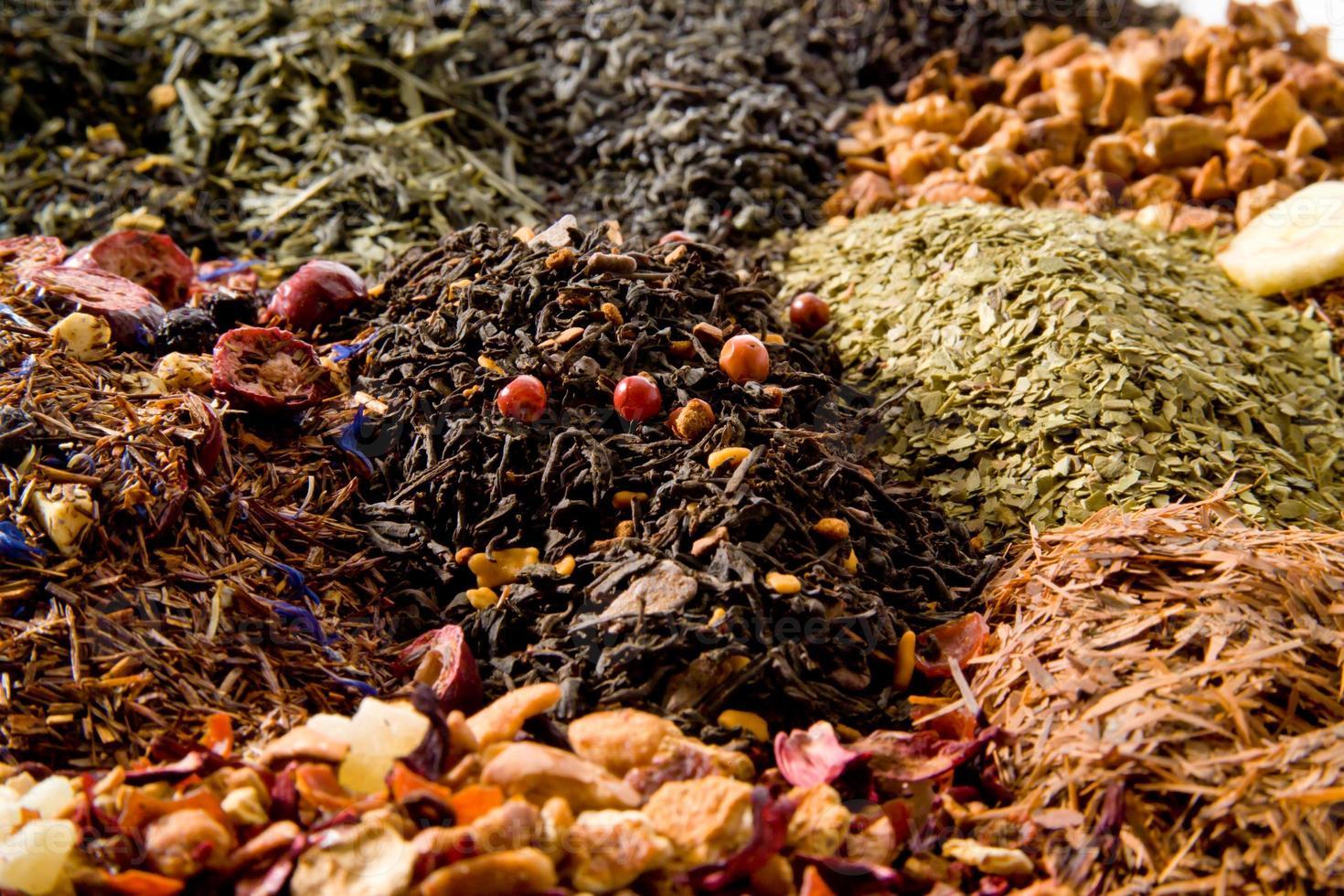 diversi tipi di tè foto