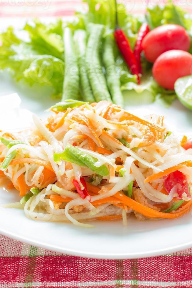 insalata di papaya foto