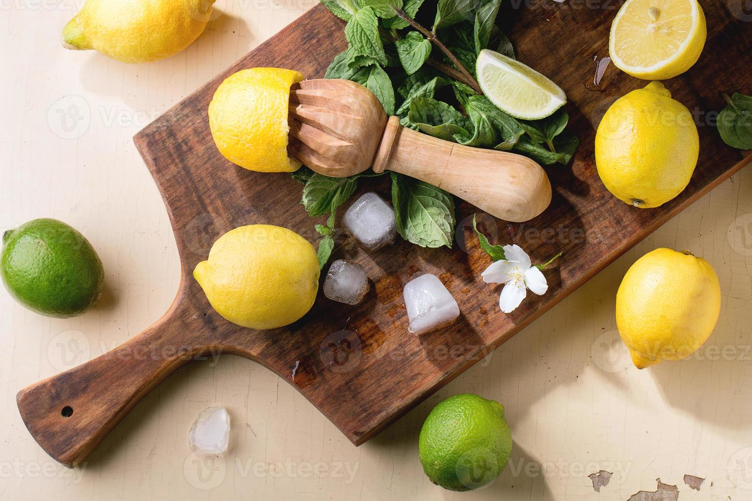 limoni, lime e menta foto