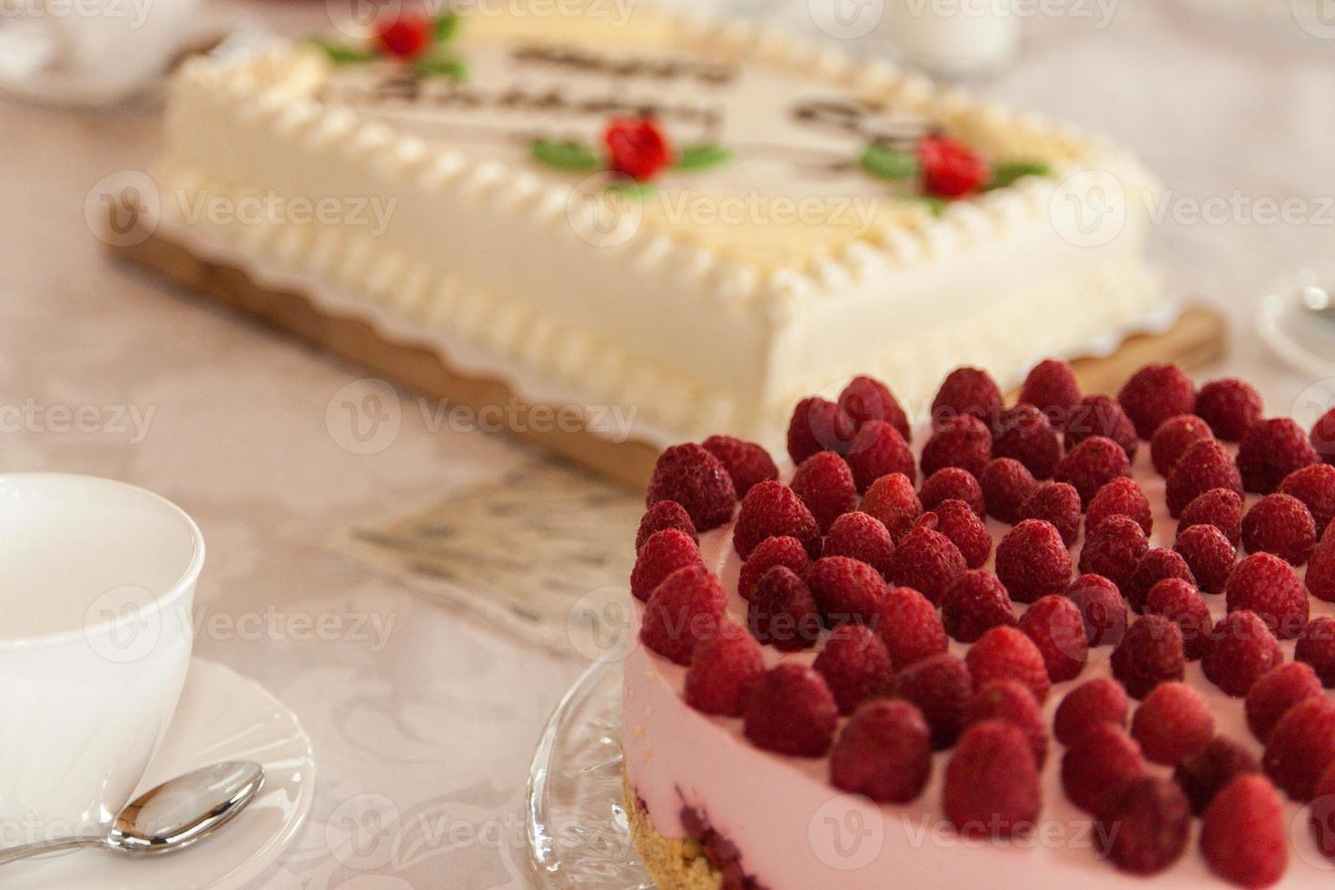 torta di lamponi foto