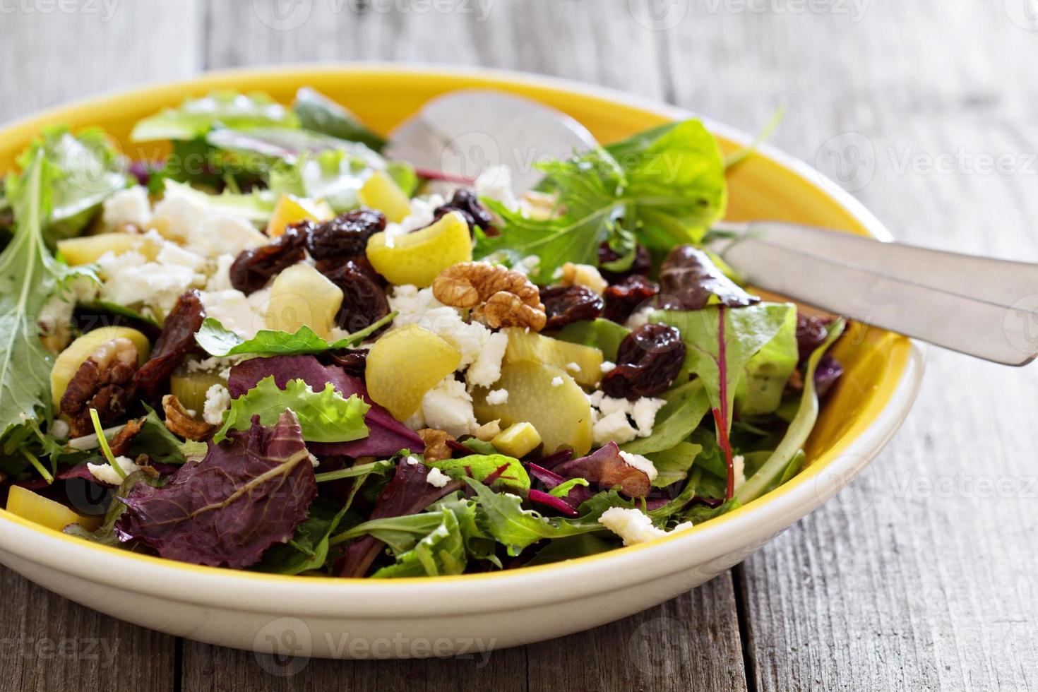insalata con rabarbaro al forno foto