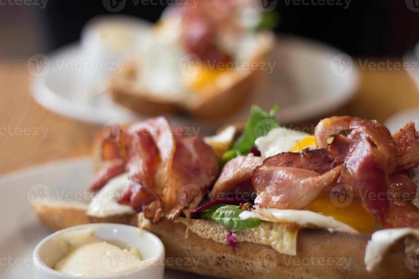 sandwitch gourmet bacon foto