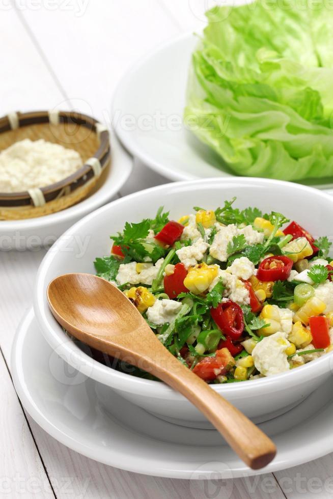 Involtini di lattuga vegetariani foto