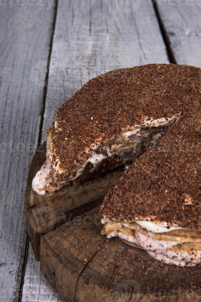 torta di noci fatta in casa foto