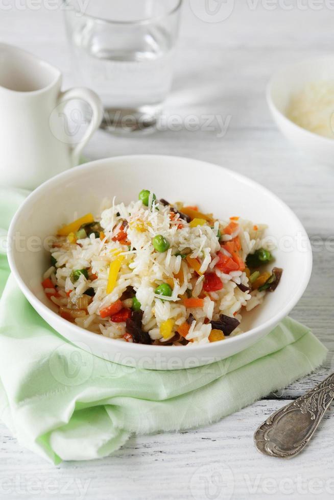 riso nutriente con mix di verdure foto