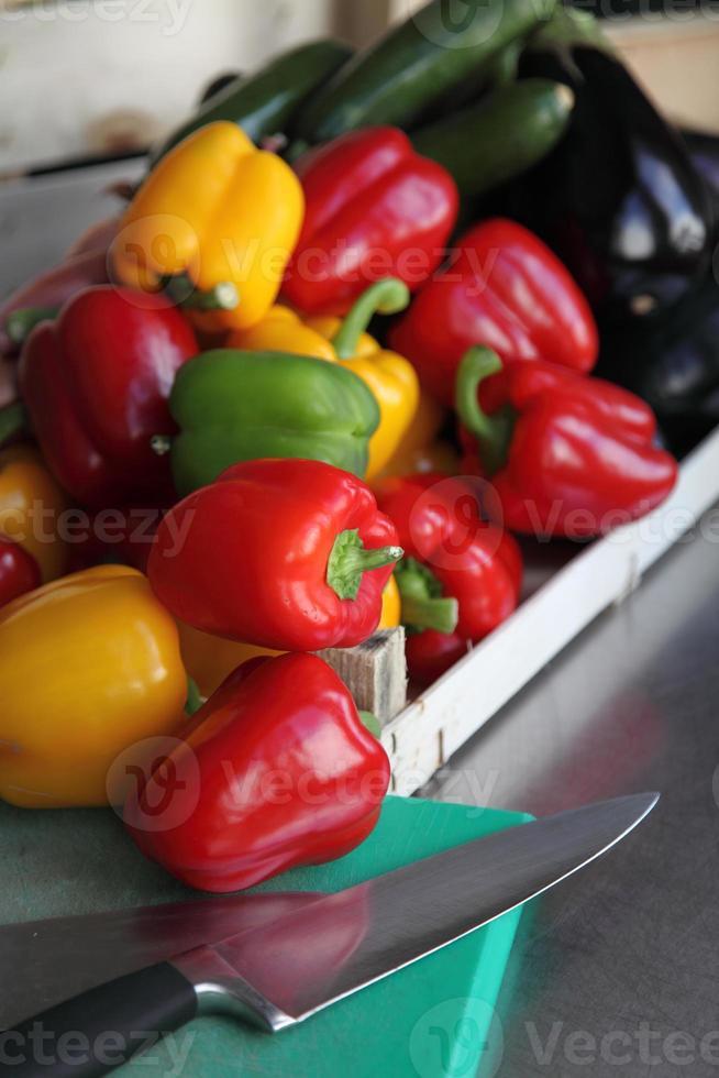 selezione di verdure crude foto