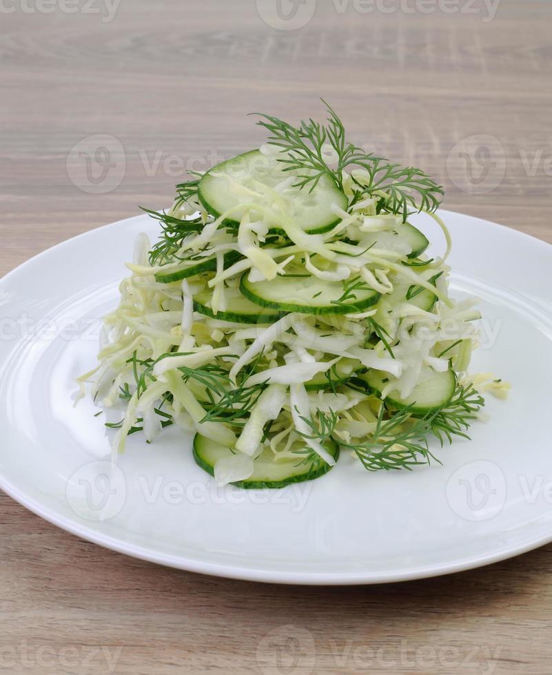 insalata di insalata con cetriolo foto