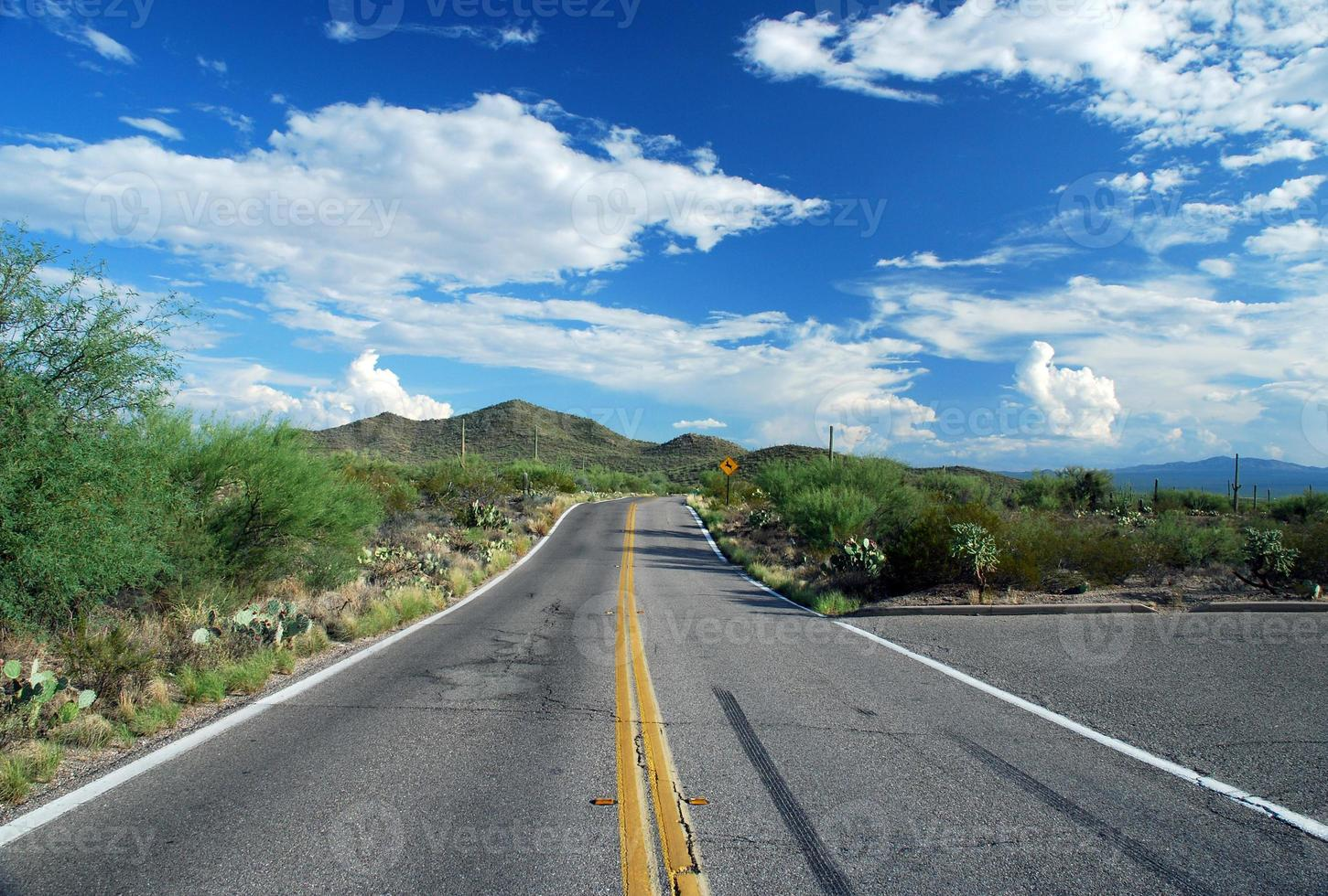 autostrada del deserto Tucson foto
