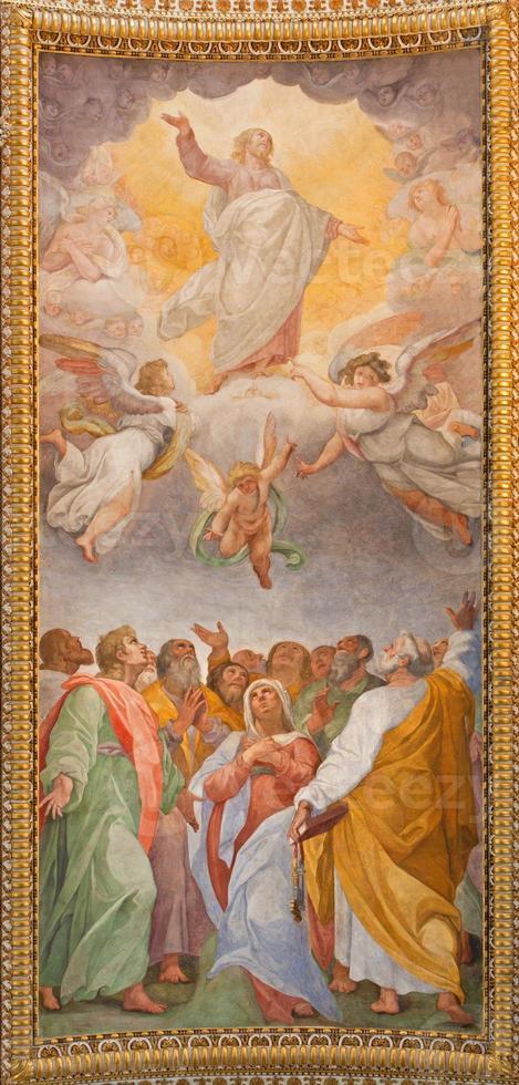 roma - ascensione del signore affresco foto