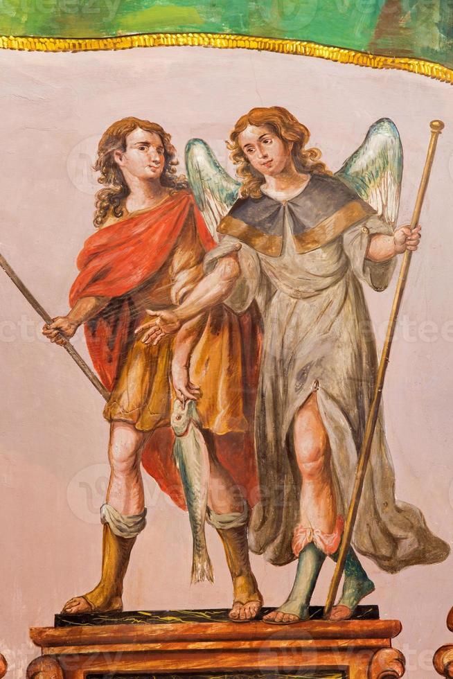 siviglia - l'affresco barocco dell'arcangelo Raffaele foto