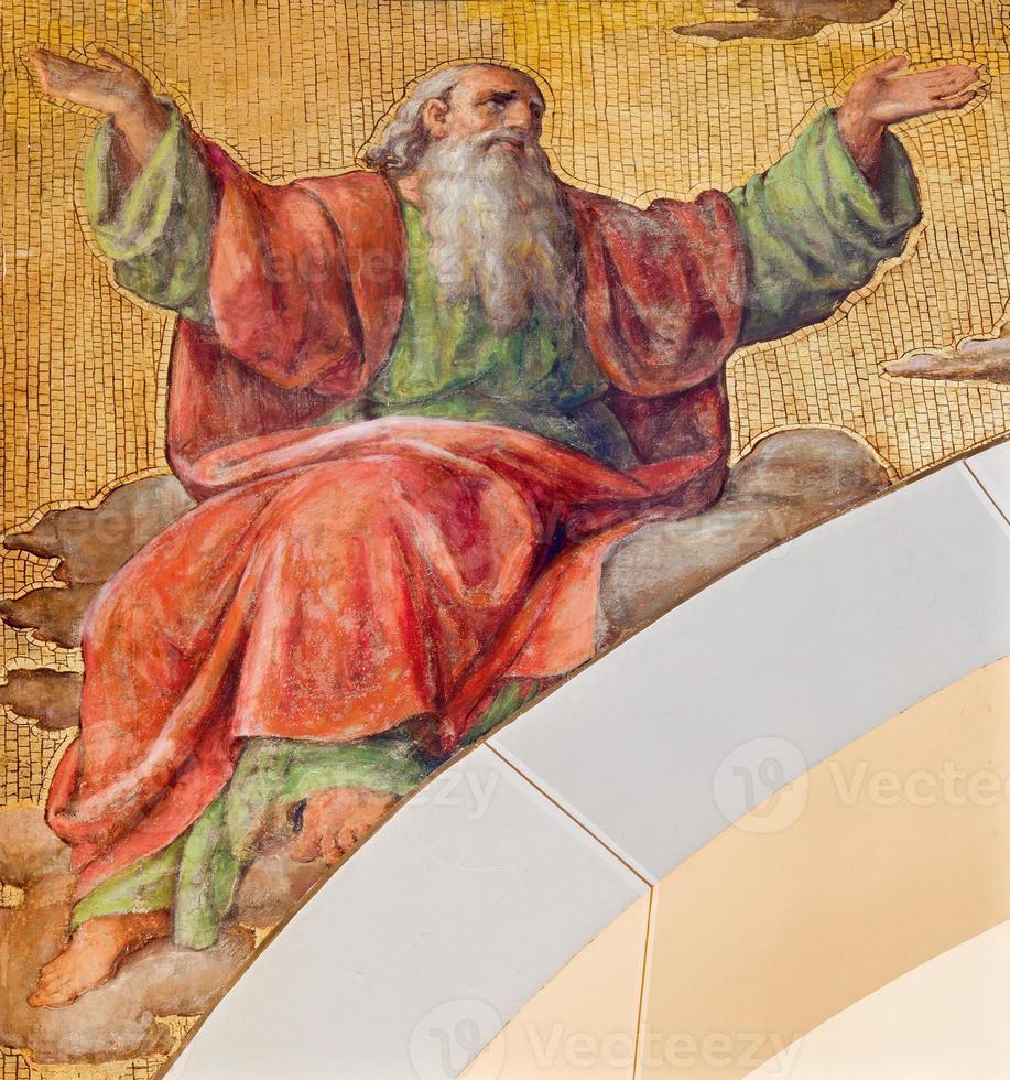 vienna - l'affresco del profeta isaia foto