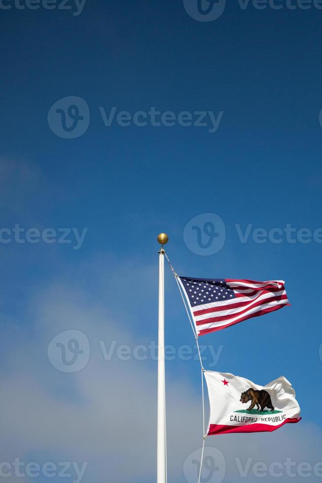 noi e lo stato di bandiera della california foto