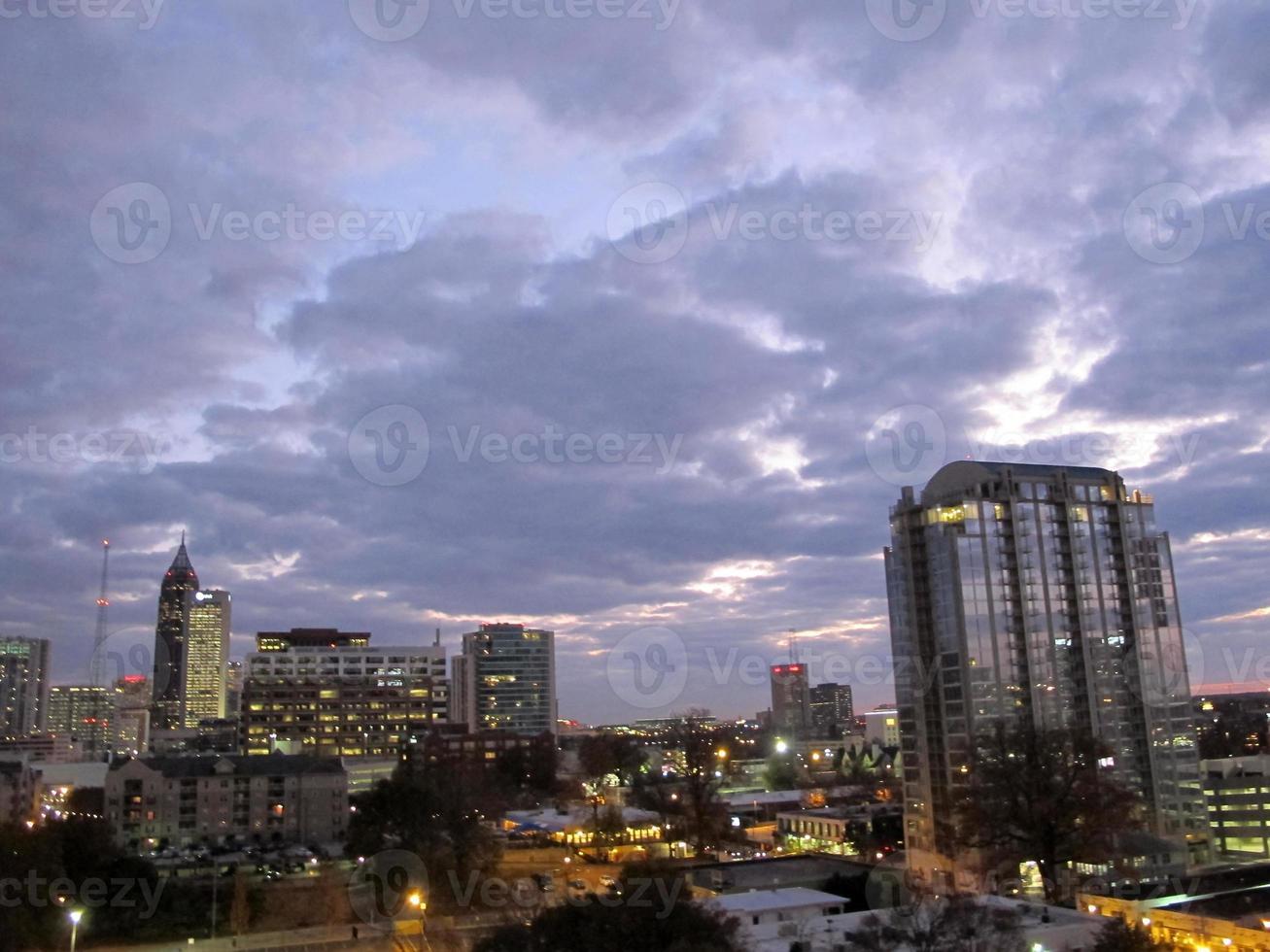 skyline di atlanta foto
