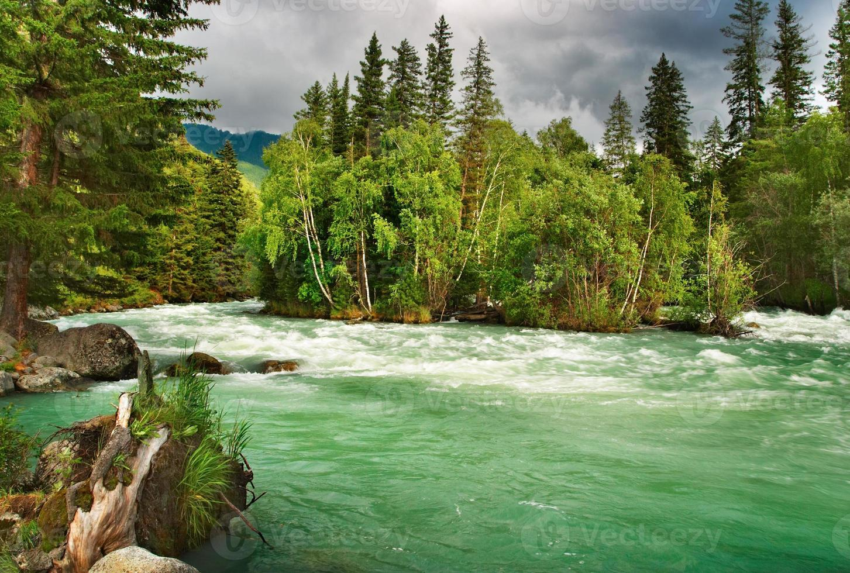 fiume di montagna kucherla foto