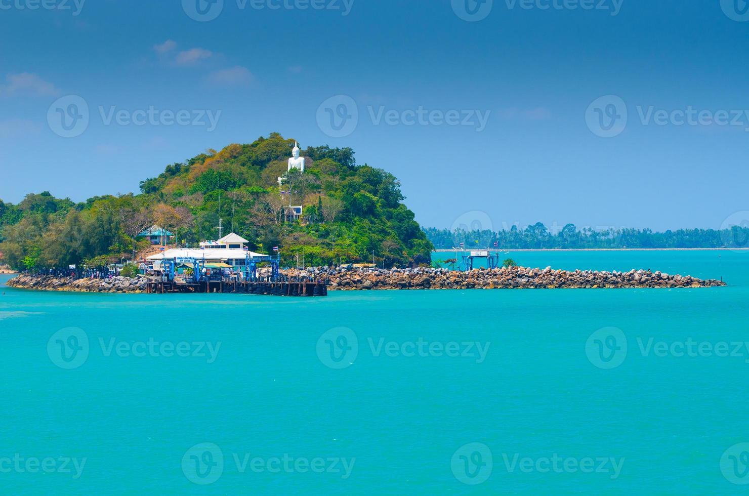 habor del traghetto a Surat Tha Ni, Tailandia foto