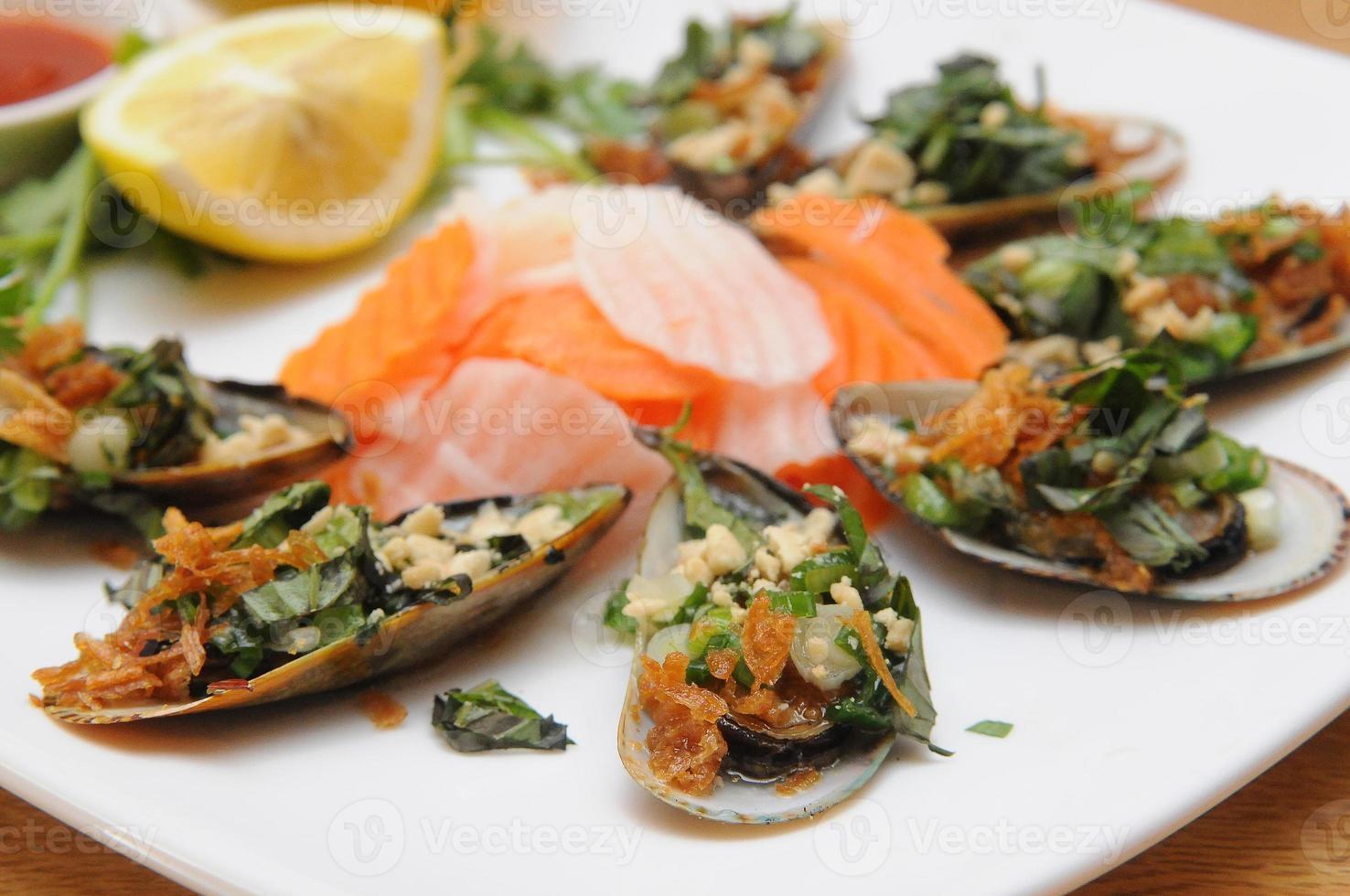 angolo vietnamita del piatto di ostrica foto