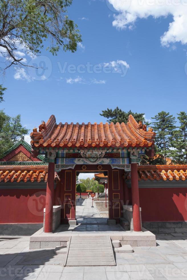 antica porta nel tempio di Confucio foto