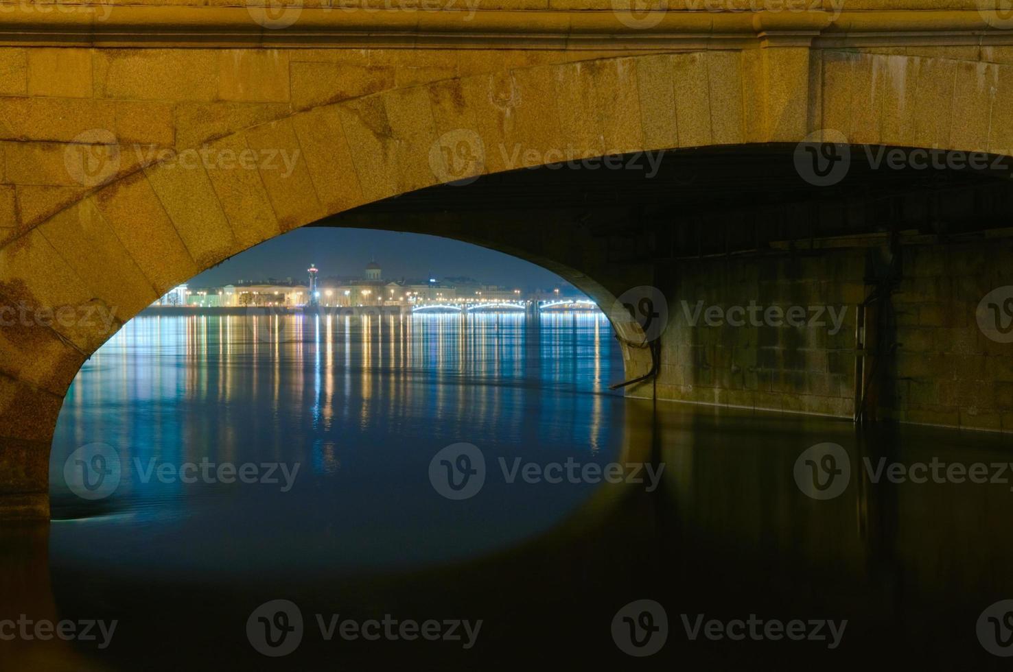 San Pietroburgo, Russia, vista notturna foto