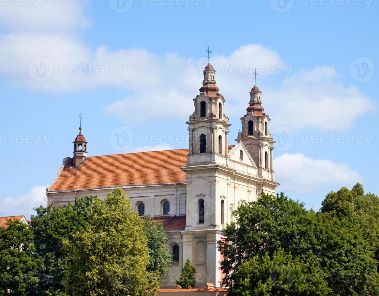 chiese di vilnius - st. la chiesa di catherine e il convento benedettino foto