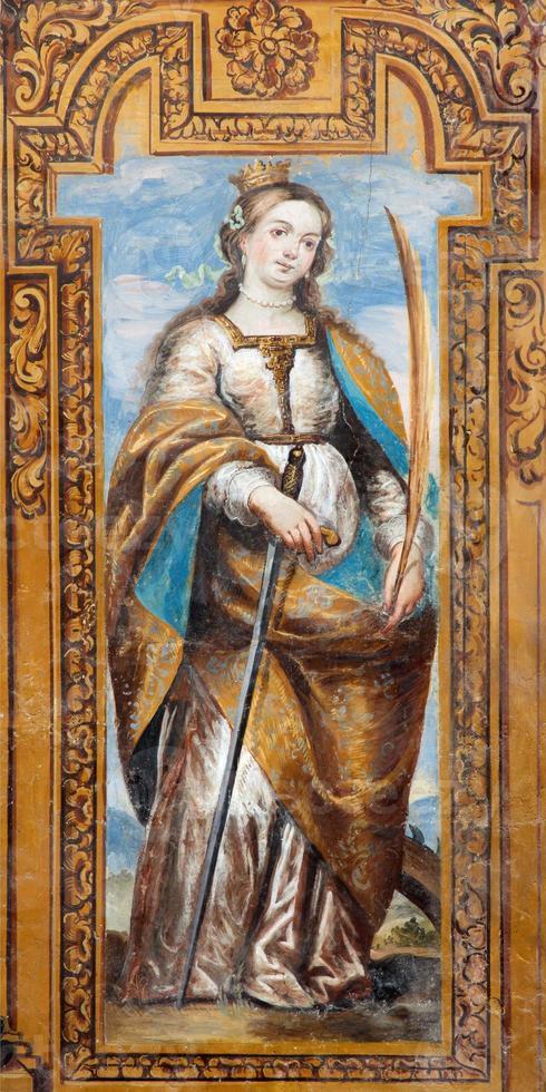 granada - martire paleocristiano santo catario di alessandria foto