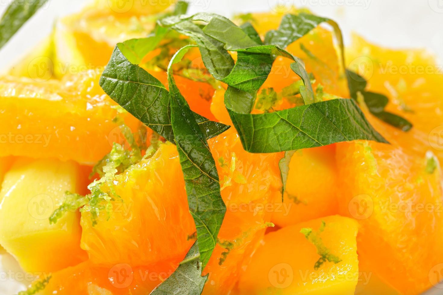 primo piano tailandese dell'insalata di frutta foto