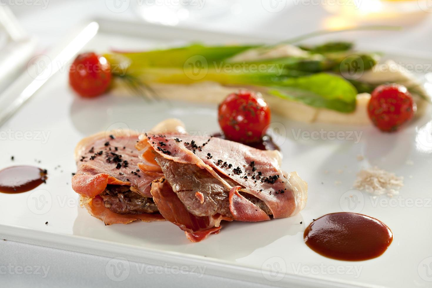 pancetta avvolto maiale foto