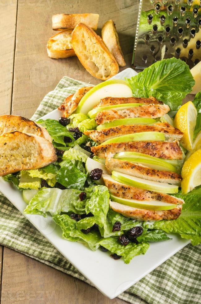 insalata di pollo con mirtilli rossi di mela foto