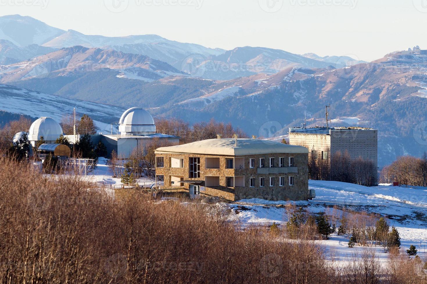 paesaggio delle montagne dell'osservatorio foto