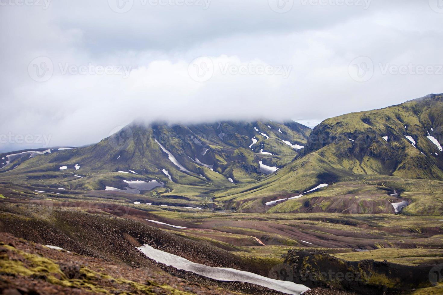 paesaggio vulcanico - landmannalaugar, islanda foto