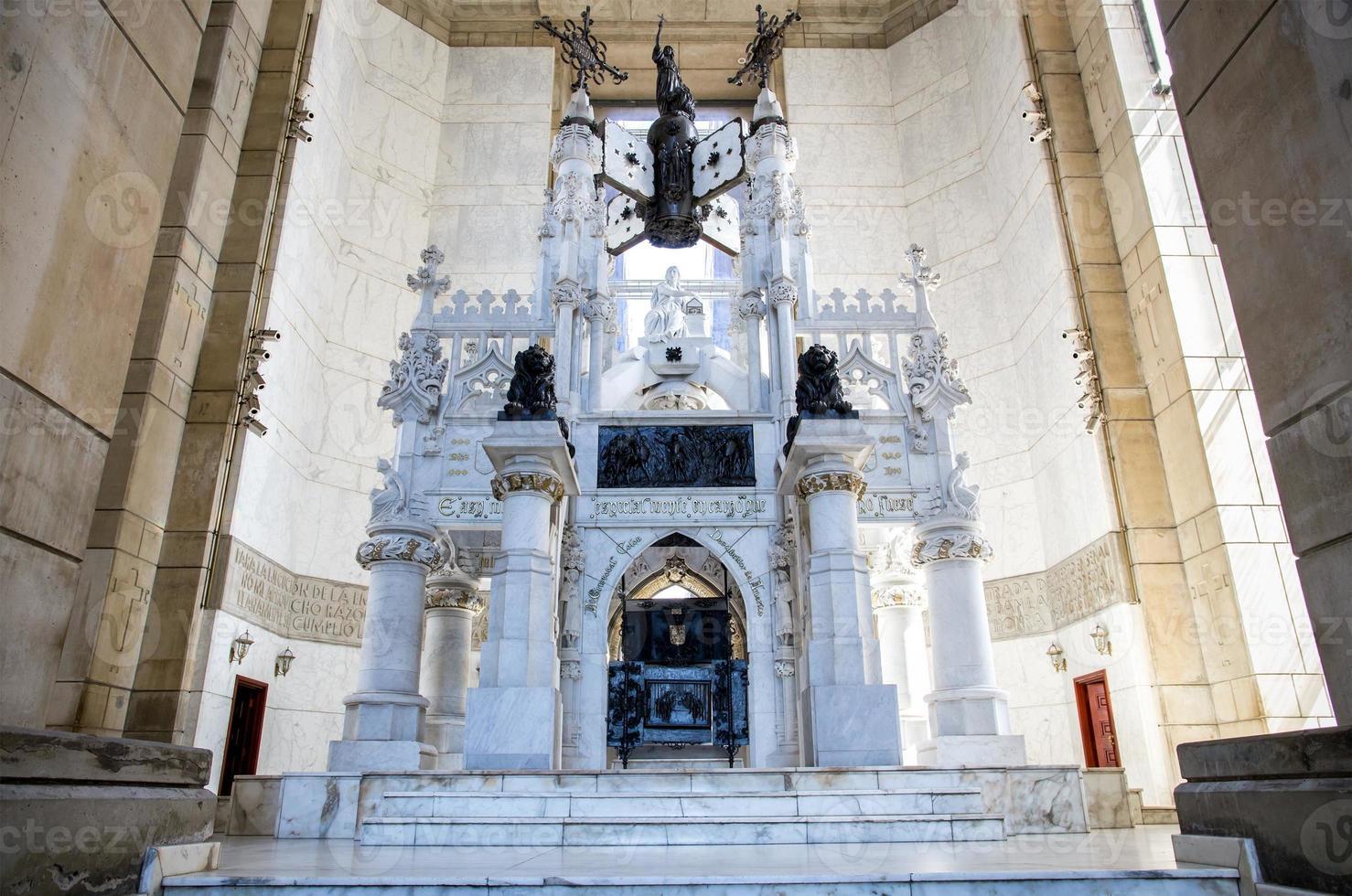 sarcofago di Cristoforo Colombo a Santo Domingo foto