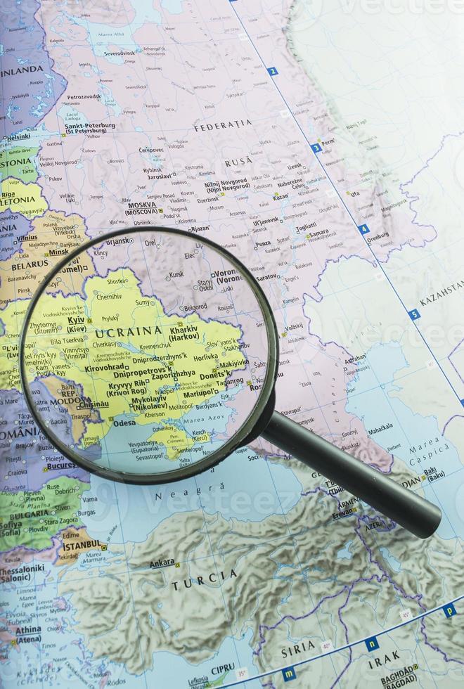 concentrarsi sull'Ucraina foto