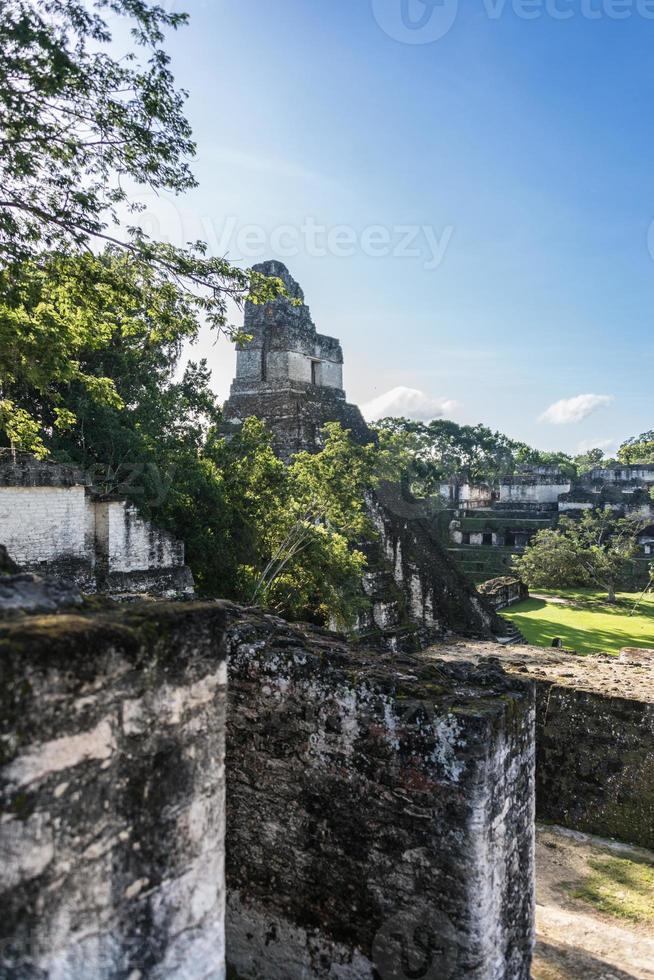 rovine Maya di Tikal, parco nazionale. viaggiare in guatemala. foto