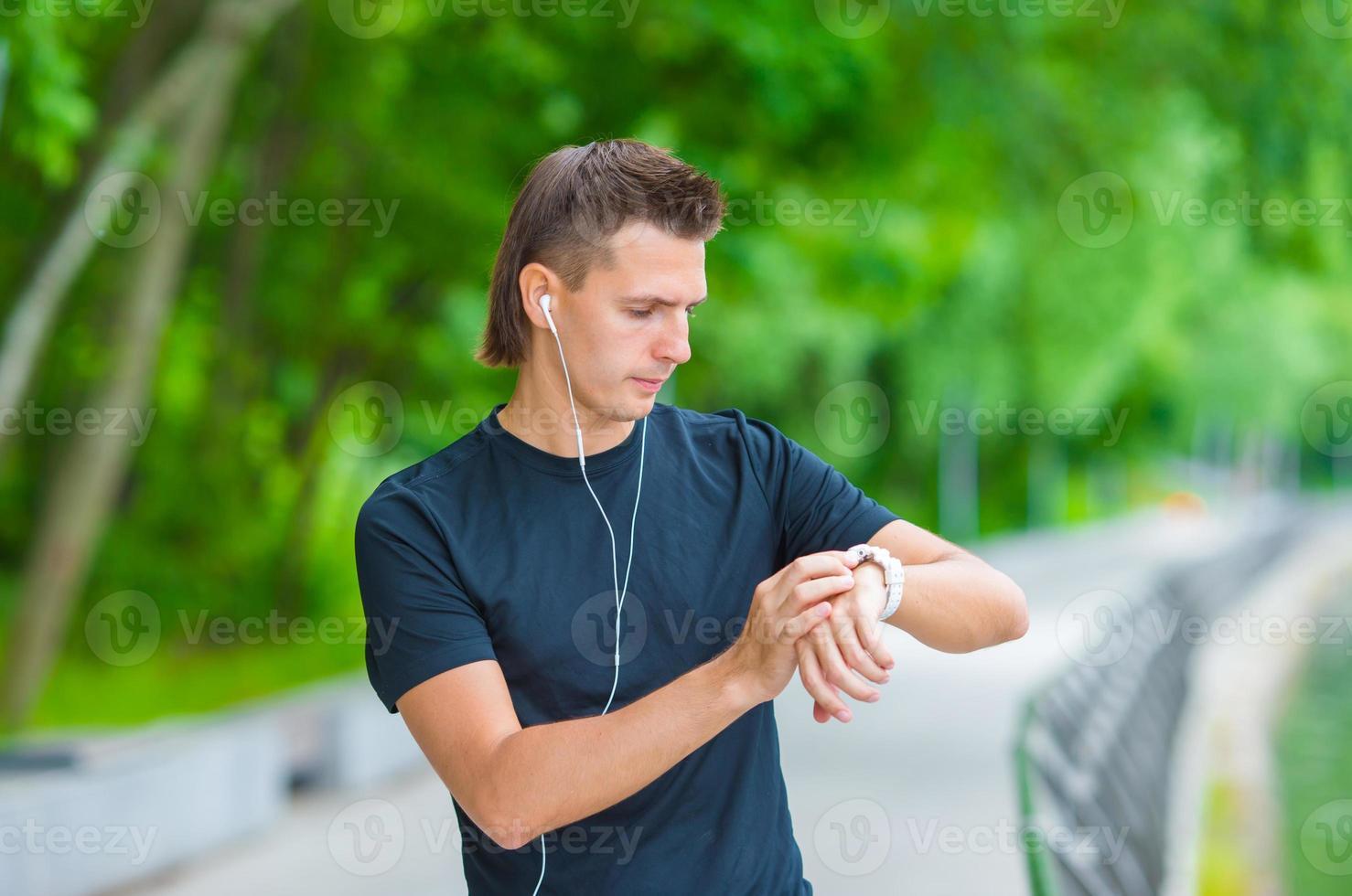 il corridore si rompe durante la corsa foto