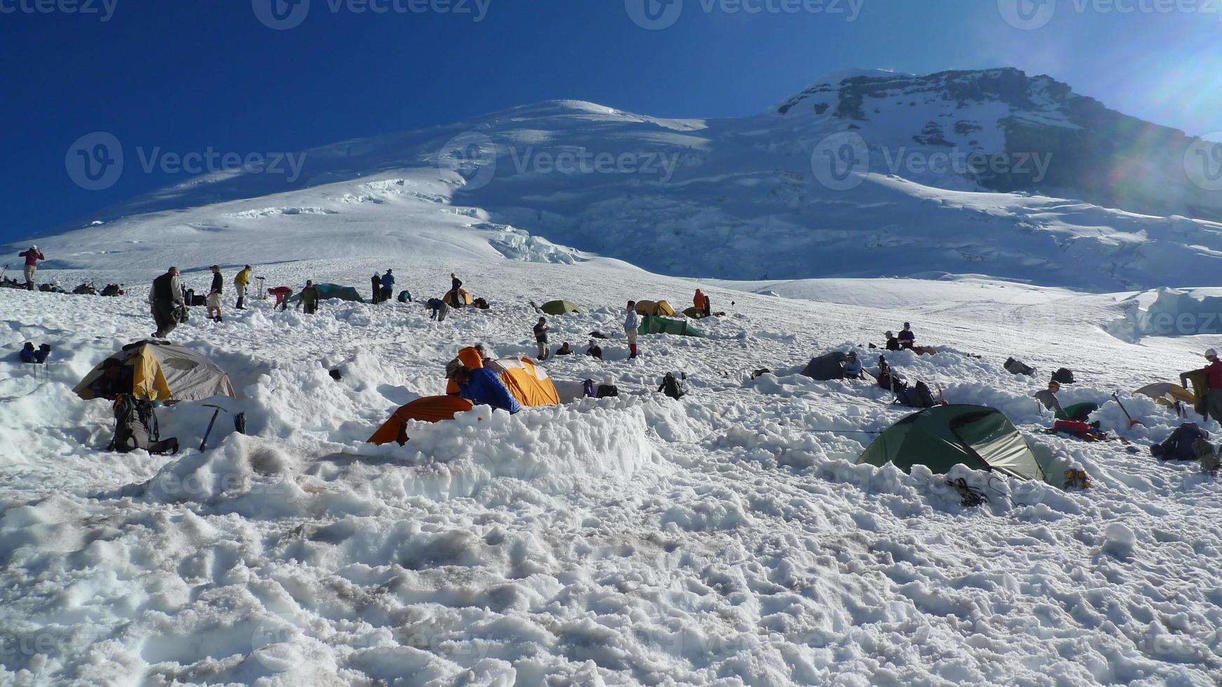 Monte Rainier, campo base Schurman foto