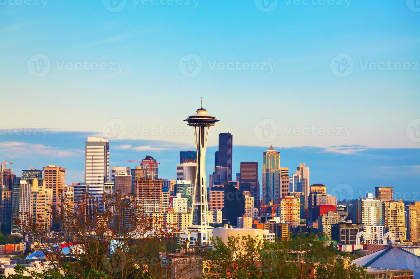 Downtown Seattle come si vede dal parco di Kerry foto