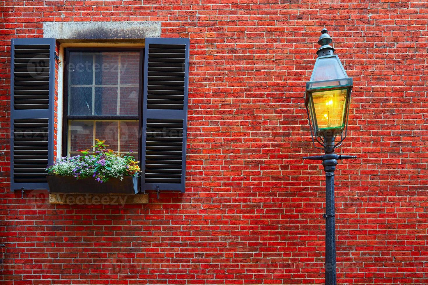 Boston strada di ciottoli collina ghianda collina foto