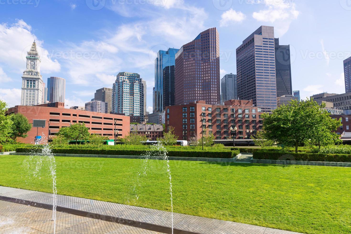 Boston North End Park e Slkyline Massachusetts foto