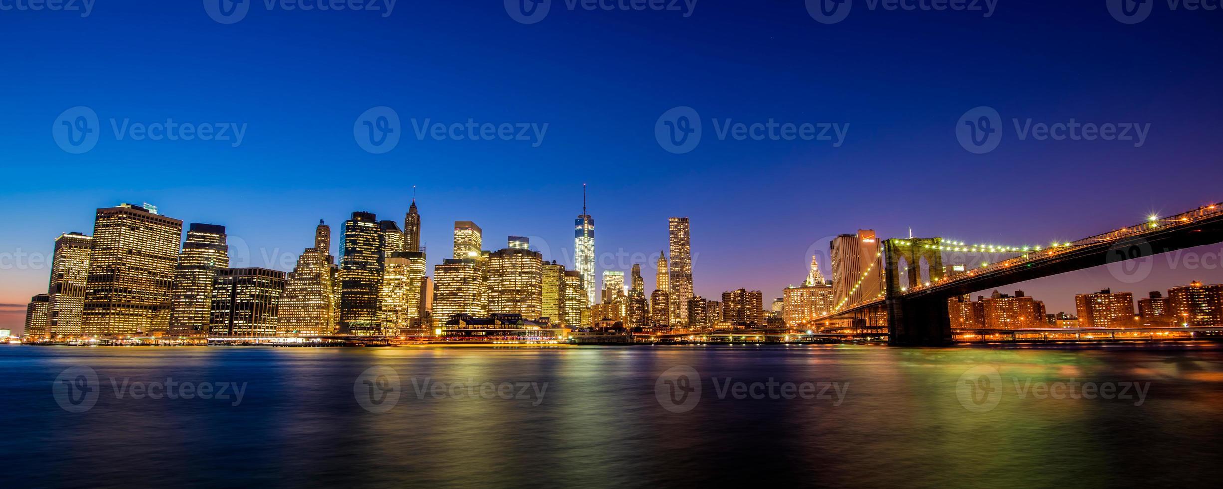 panorama sullo skyline di new york foto
