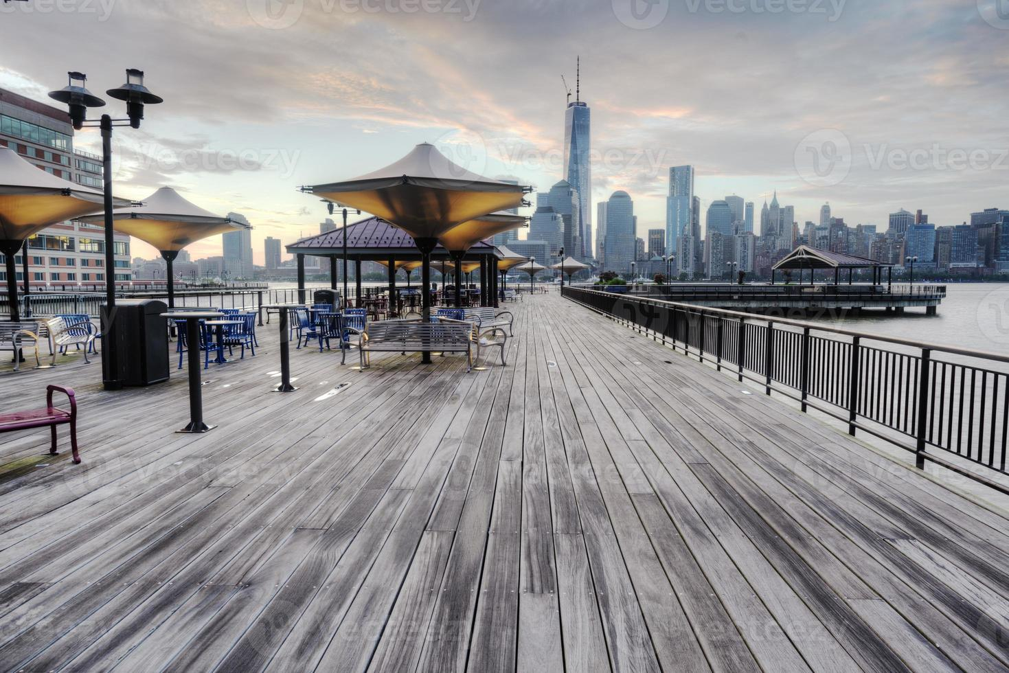vista di New York dal lungomare foto